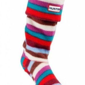 HUNTER striped welly boot liner socks youth size S